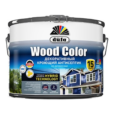 """Dufa"" Кроющий антисептик  WOOD COLOR  белый база 1  0,9л"